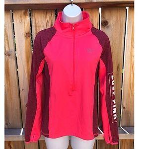 🐕PINK jacket, thumb holes, 3/4 zip. Size SP🐕
